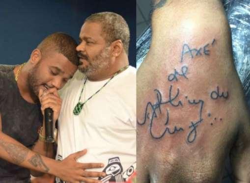 Filho De Arlindo Cruz Publica Foto De Tattoo Em Homenagem Ao Pai