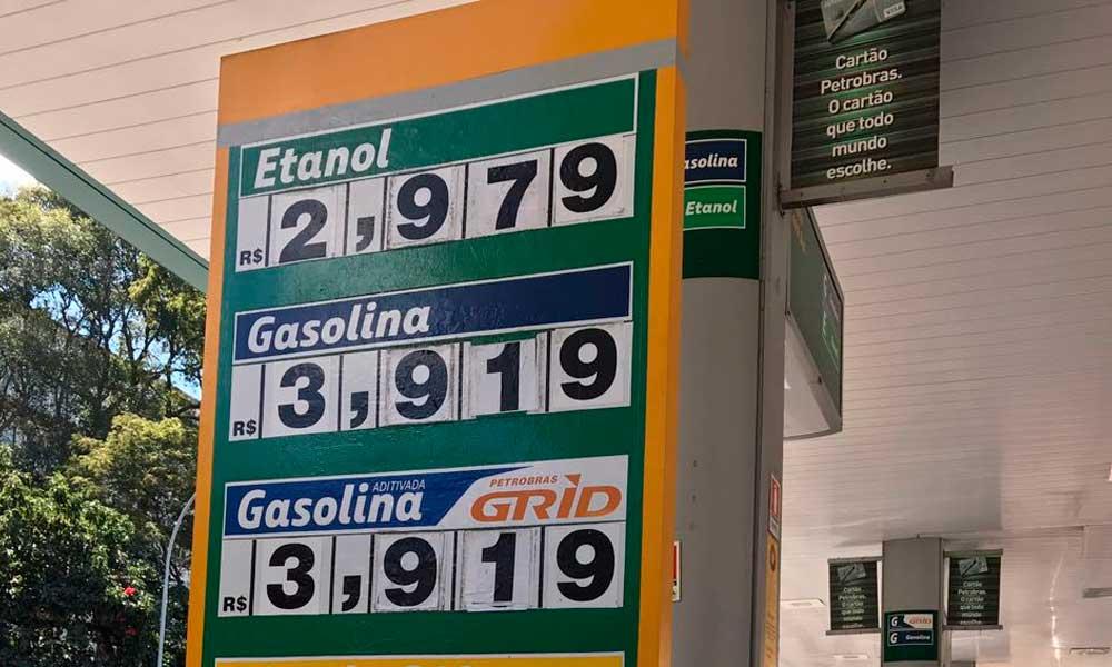 Postos do DF repassam impostos e gasolina já é vendida a mais de R$ 3,90