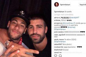 """Em rede social, Piqué indica futuro de Neymar no Barcelona: """"Fica"""""""