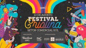 Festival Criolina reúne grandes bandas, DJs e arte urbana projetada em prédios no centro de Brasília