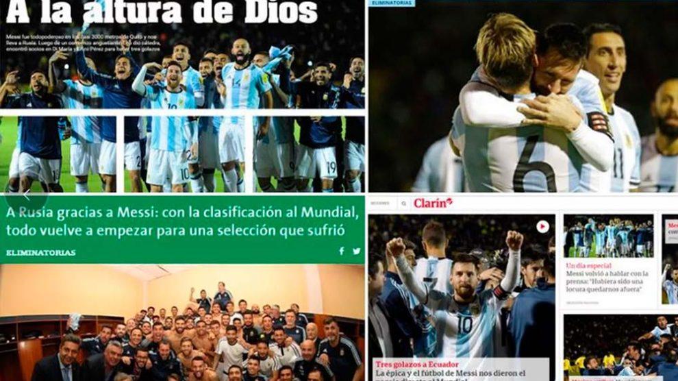 Imprensa argentina exalta Lionel Messi