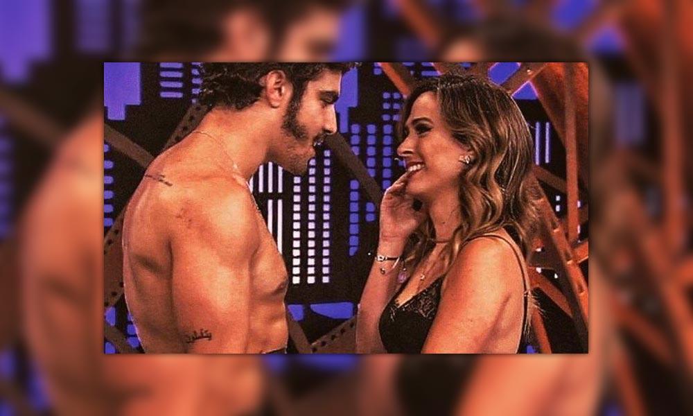 Caio Castro tira a roupa no 'Lady night' em brincadeira com Tatá Werneck, assista.