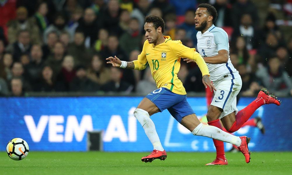 Brasil e Inglaterra não saem do zero em Wembley