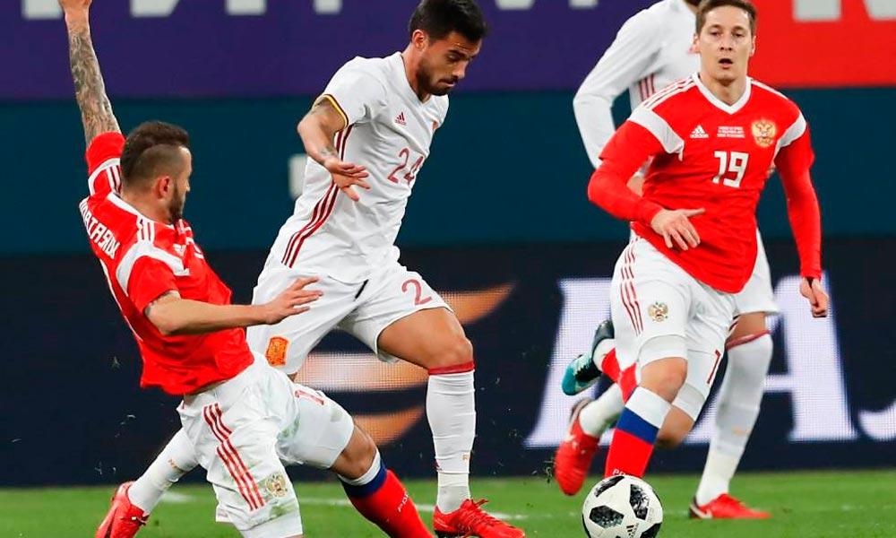 Rússia e Espanha empatam em jogo de seis gols