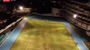 Torcedores do Fla transmitem treino do Independiente ao vivo com ajuda de drone