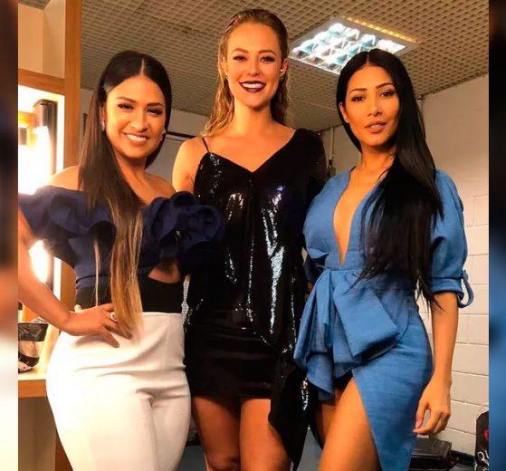 Que trio coleguinhas! Simone e Simaria posam lindas com Paolla Oliveira