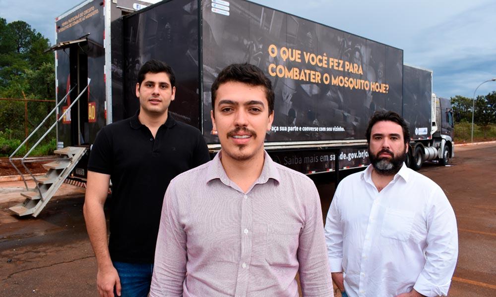 Carreta aposta em tecnologia e interatividade para informar o Brasil sobre o combate ao mosquito Aedes aegypti