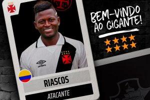 Vasco anuncia a contratação do atacante colombiano Riascos